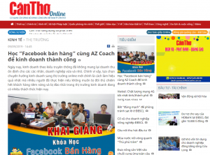 Báo Cần thơ Online đã có bài viết về lớp Facebook bán hàng của AZ COACH